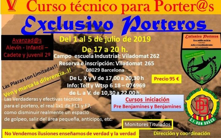 V Campus Tecnic Avançat per Porters
