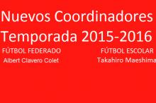 Nuevos coordinadores temporada 2015-2016