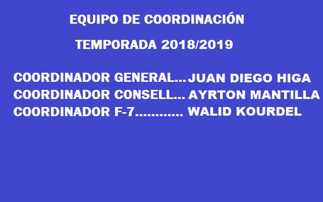 EQUIPO DE COORDINACIÓN 2018-2019